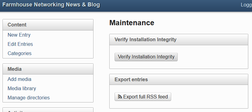 Wordpress Migration - Export full RSS feed
