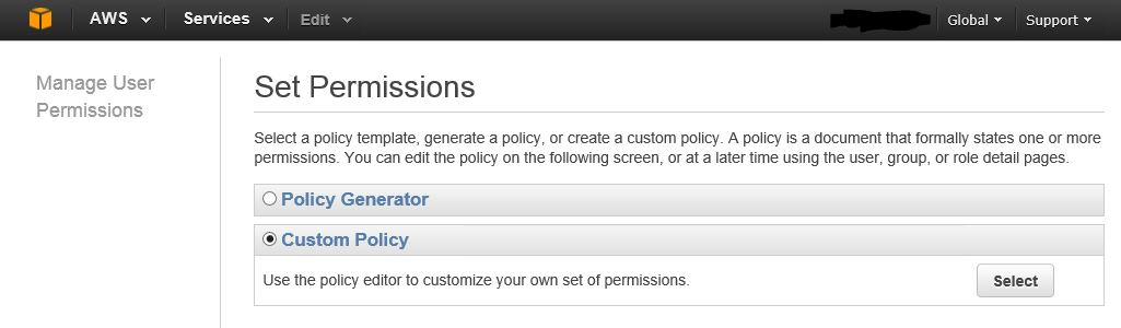 AWS Create Backup User Create User Policy