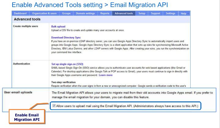Email Migration API