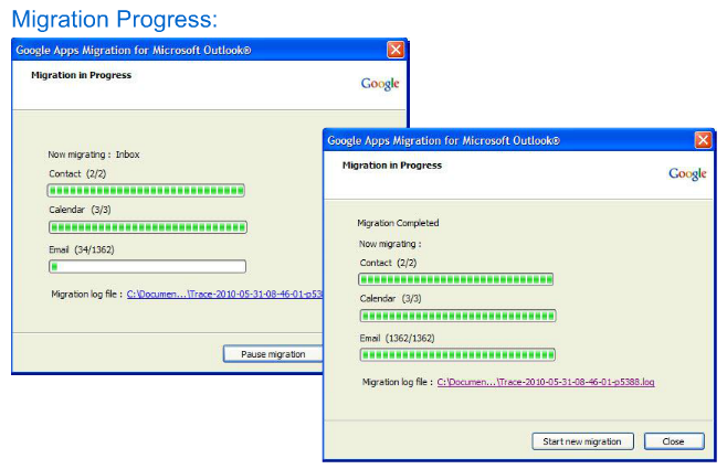 Google Apps Migration Process