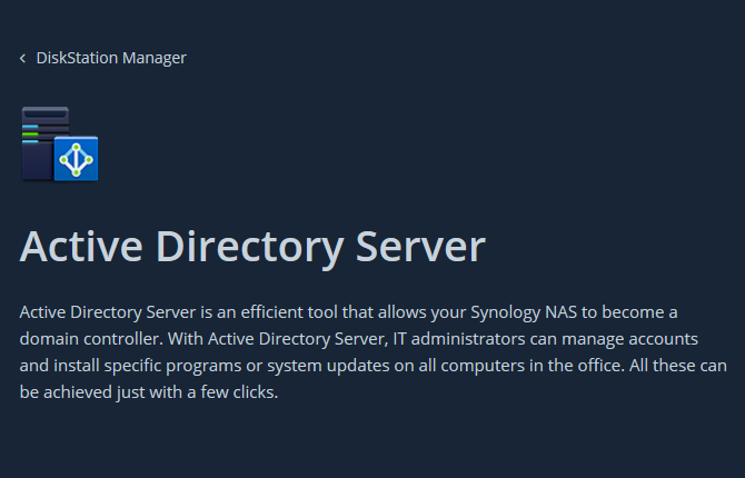 Synology Active Directory Server - Grants Pass, OR